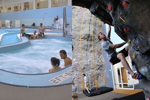 Swimming pool, Leisure, Aqua, Bathing, Leisure centre, Resort town, Water feature, Water park, Resort, Thermae,