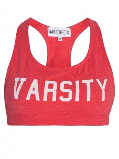 wild fox varsity crop top