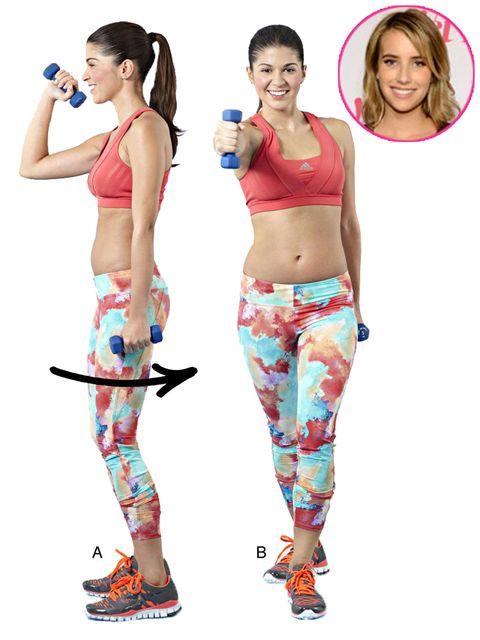 celebrity fitness tips emma roberts