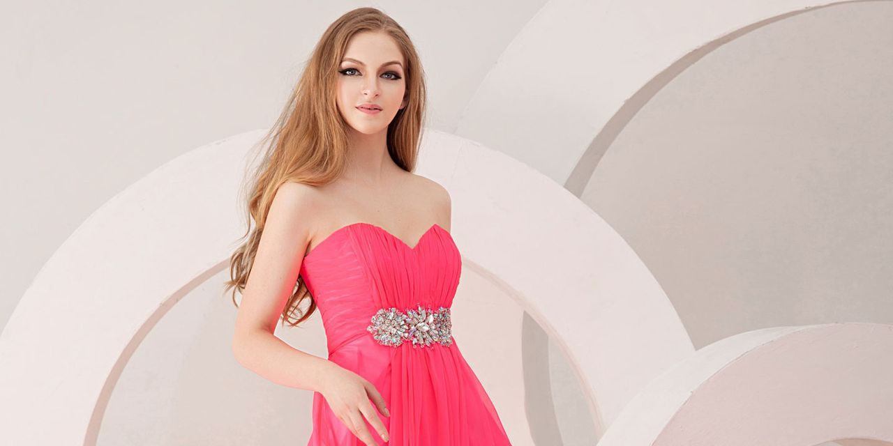 Pink and Black Evening Dresses