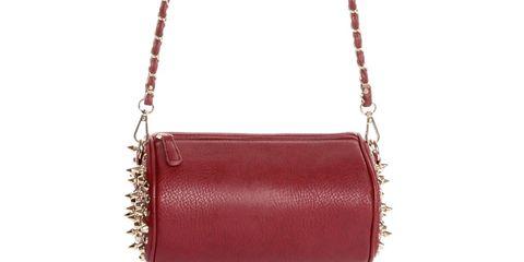 Studded Burgundy Handbag
