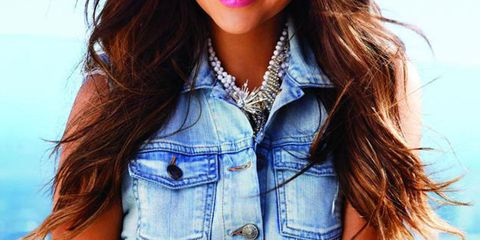 Shay Mitchell August 2012 Cover Shoot Denim