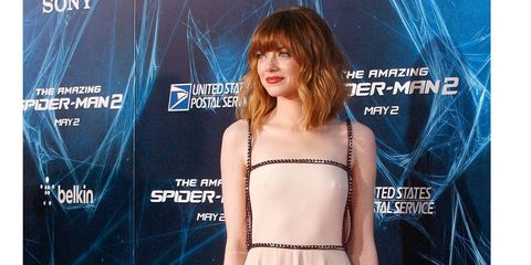 emma stone in nyc for the amazing spiderman 2