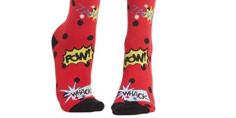 Comic Book Pow Socks
