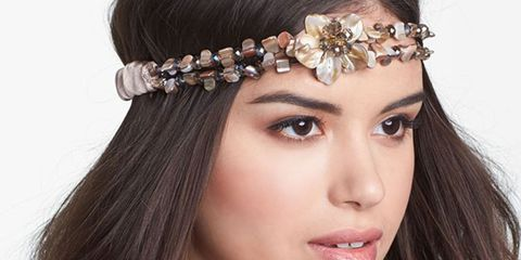 Jeweled Floral Halo