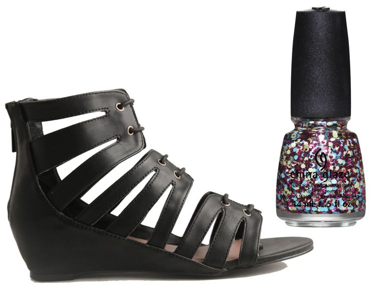 Match Your Pedicure To Your Sandals Summer 2014 Nail Polish And Sandals