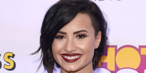 Hairstyle, Eyebrow, Eyelash, Facial expression, Style, Black hair, Jewellery, Lipstick, Tooth, Makeover,