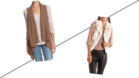 Draped Vest//Fur Vest