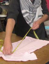 measuring a tee shirt