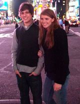 ricky and catherine in times square