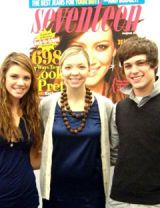 catherine and ricky posing with meredith goforth
