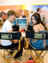vanessa hudgens and zac efron in black chairs