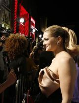 drew barrymore is asked a question  and smiles
