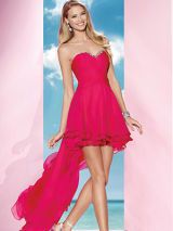 Clothing, Finger, Dress, Shoulder, Human leg, Strapless dress, Standing, Photograph, Red, Joint,
