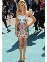 Ashley Tisdale's bright tribal print dress