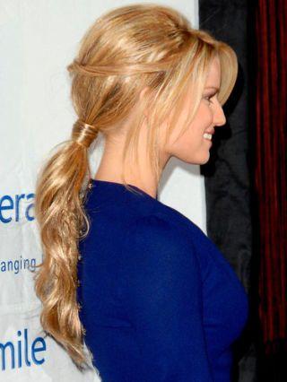 jessica simpson hair pony tail