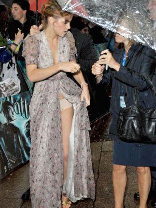 emma watson showing underwear in rain