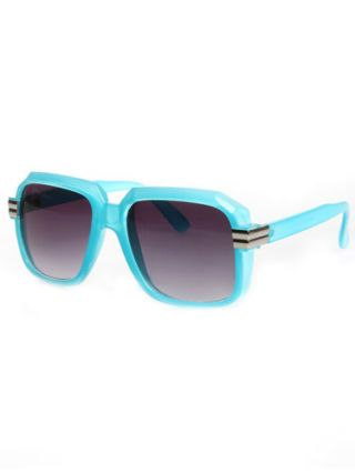 Sunglasses with turquoise frames