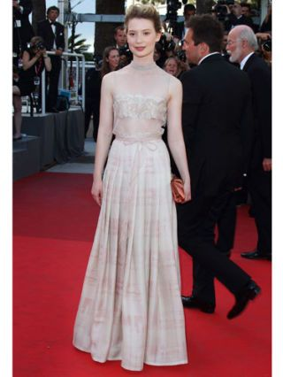 Mia Wasikowska at cannes film festival