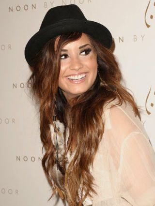 Demi Lovato at the noon by noor launch party