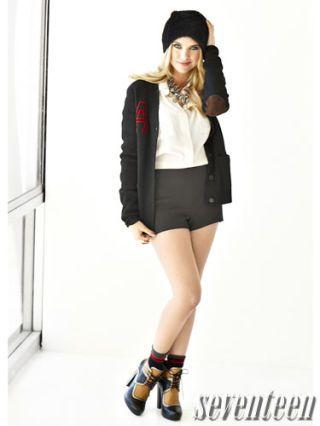 Ashley Benson in cute fall wear for seventeen magazine shoot