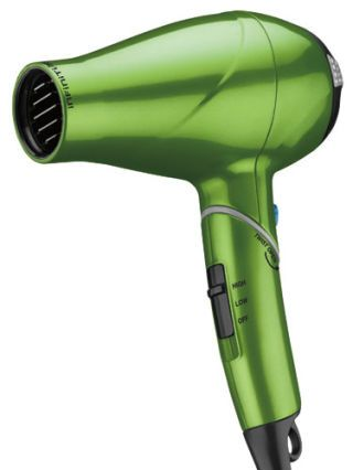metallic green blow dryer