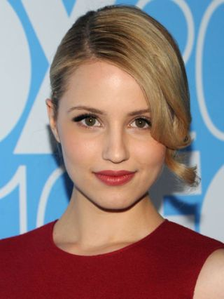 dianna agron holiday beauty looks