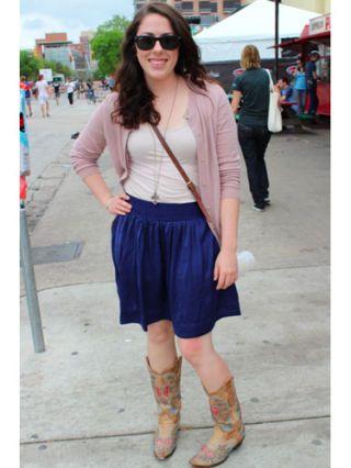 Clothing, Footwear, Eyewear, Leg, Blue, Sleeve, Shoulder, Human leg, Textile, Standing,
