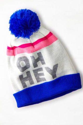 Blue, Textile, Cap, Electric blue, Headgear, Costume accessory, Azure, Brush, Cobalt blue, Pom-pom,