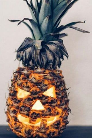 Shay Mitchell Carved Pineapple