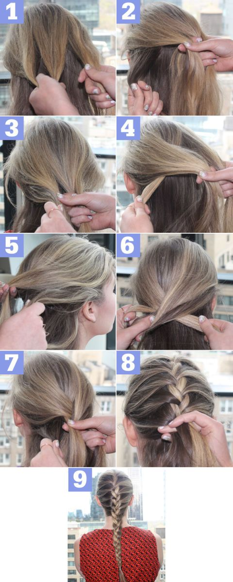 how to french braid in 9 easy steps french braid hair video tutorial rh seventeen com french braid instructions french braid instructions youtube