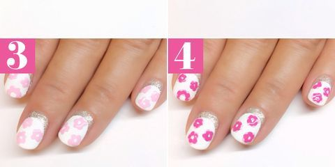Easy Floral Nail Art Tutorial Vintage Rose Manicure How To