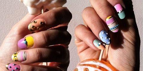 Blue, Finger, Nail, Nail care, Nail polish, Purple, Pink, Magenta, Majorelle blue, Violet,