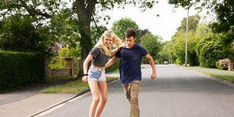 Clothing, Road, Asphalt, Leisure, T-shirt, Road surface, Summer, Shorts, People in nature, Vacation,