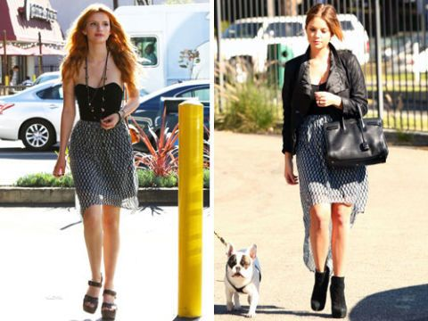 bella thorne ashley benson same dress
