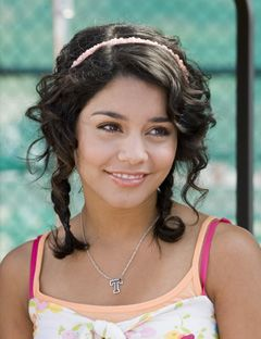 vanessa hudgens in curly braids