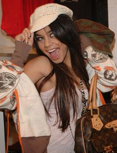 vanessa hudgens trying on hats