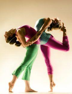 two girls modeling yoga wear
