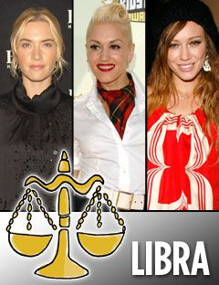 kate winslet gwen stefani and hilary duff with the libra symbol
