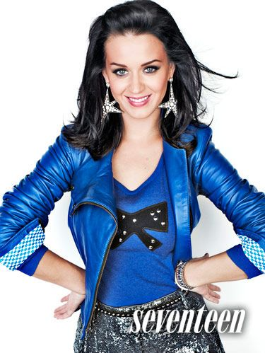 katy perry in blue shirt