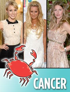 kristen bell ashley tisdale and gisele bundchen with the cancer symbol