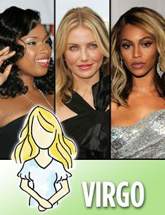 jennifer hudson cameron diaz and beyonce knowles with the virgo symbol