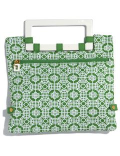 green and white print old navy bag