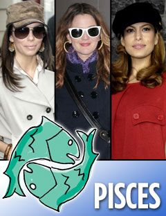 eva longoria parker drew barrymore and eva mendes with the pisces symbol