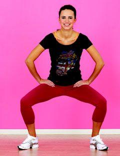 woman demonstrating squat