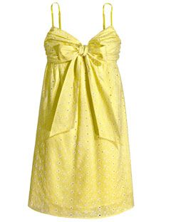 yellow dress with bow