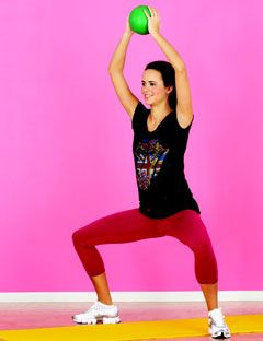 woman demonstrating exercise move