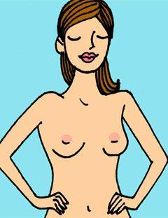 breast exam step 1