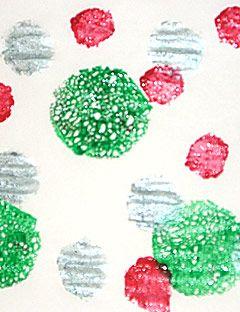 colored polka dots