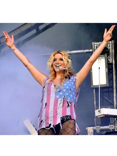 kesha in concert on stage